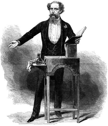 illustrazione con Charles Dickens