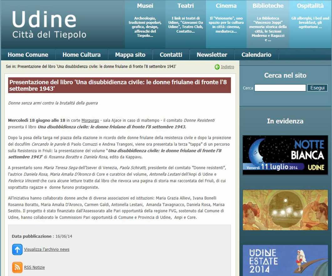Udine Cultura 16-06-2014
