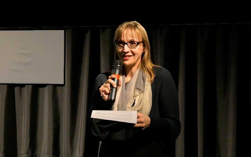 relatrice presentazione proiezione documentario Come il peso dell'acqua