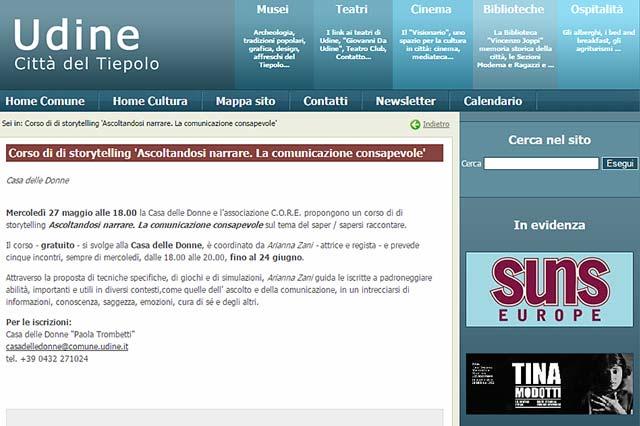 articolo dal sito Udine Cultura