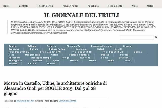 immagine pagina web sito Il giornale del Friuli