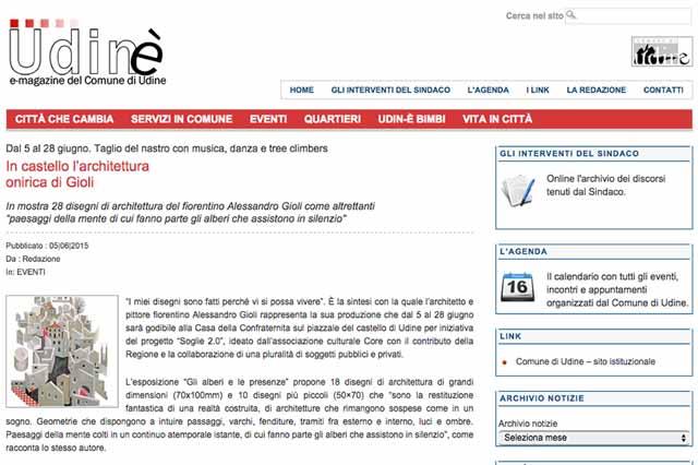 immagine pagina sito web Udinè