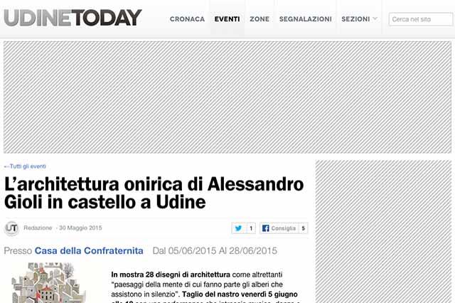 particolare pagina web sito Udine Today