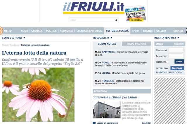 ritaglio pagina wed de Il Friuli