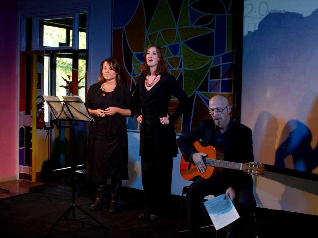 trio Claudia Grimaz, Nicoletta Oscuro e Massimo Somaglino
