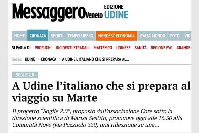 immagine pagina web sito Messagero Veneto