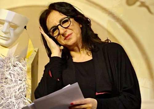 Rita Maffei durante lo spettacolo