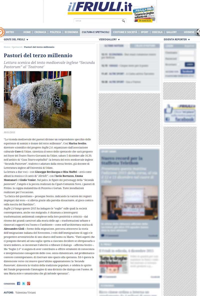 il Friuli: Pastori del terzo millenio