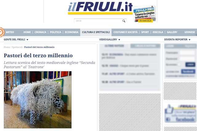 ritaglio pagina web del sito ilfriuli.it