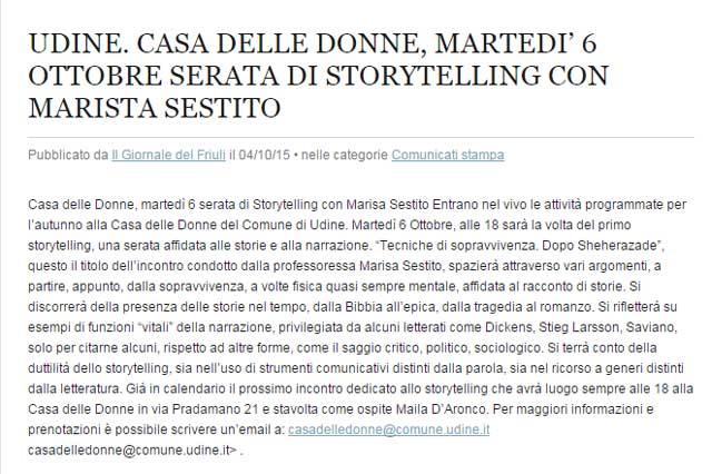 articolo del sito igiornaledelfriuli.net