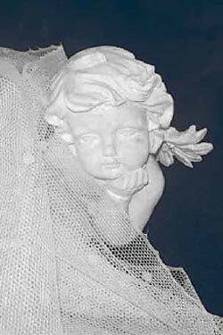 statua marmo angelo