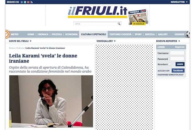 particolare pagina web www.IlFriuli.it