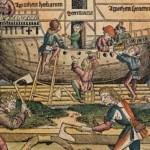 La costruzione dell'Arca particolare illustrazione del 1493